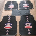 Paul Frank Universal Automotive Carpet Car Floor Mats Latex 5pcs Sets - Black