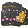 Rilakkuma Genenal Automotive Carpet Car Floor Mats Rubber 5pcs Sets - Black Yellow