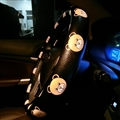 Rilakkuma PU Leather Auto Car Steering Wheel Covers 15 inch 38CM - Black Yellow