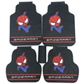 Spiderman General Automotive Carpet Car Floor Mats Latex 5pcs Sets - Colorful Black