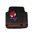 Spiderman Universal Auto Carpet Car Floor Mats Short Plush 2pcs Sets - Black Red