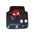 Spiderman Universal Automotive Carpet Car Floor Mats Short Plush 2pcs Sets - Black Red