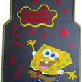 SpongeBob Universal Automotive Carpet Car Floor Mats Latex 5pcs Sets - Yellow Coffee