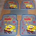 SpongeBob Universal Automotive Carpet Car Floor Mats Latex 5pcs Sets - Yellow Grey