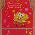SpongeBob Universal Automotive Carpet Car Floor Mats Latex 5pcs Sets - Yellow Red