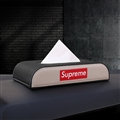Supreme Beautiful Genuine Leather Car Tissue Paper Boxs Holder for Car Home - Black Beige
