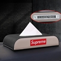 Supreme Beautiful Genuine Leather Car Tissue Paper Boxs With Diamonds Car Parking Card - Black Beige