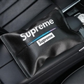 Supreme Cool Genuine Leather Car Tissue Paper Boxs Holder for Car Home - Black