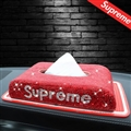 Supreme Diamonds Car Tissue Paper Boxs Anti-slip Mat for Car Leather - Red