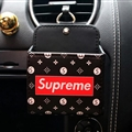 Supreme LV 1pcs Car Storage Bucket Leather Storage Box Auto Storage Bag - Black