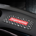 Supreme LV Auto Accessories Car Anti-Slip Mat for Mobile Phone key GPS Pad Silica Gel - Black
