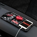 Supreme LV Car Accessories Car Anti-Slip Mat for Mobile Phone key GPS Pad Silica Gel - Black