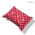 Supreme LV Cloth Car Tissue Paper Boxs Holder for Car Home - Red
