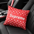 Supreme LV Plush Car Hold Pillow Universal Beautiful Cushions 1pcs - Red