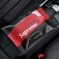 Supreme Peppa Pig Cool Genuine Leather Car Tissue Paper Boxs Holder for Car Home - Black Red