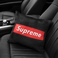 Supreme Plush Car Hold Pillow Universal Beautiful Cushions 1pcs - Black Red