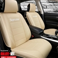 Top Leather Supreme Print Car Seat Covers Universal Pads Automobile Seat Cushions 6pcs - Beige