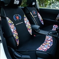 Cute Polyester Batman Car Seat Covers Universal Pads Automobile Seat Cushions 6pcs - Black Colorful