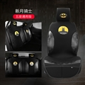 Cute Polyester Batman Car Seat Covers Universal Pads Automobile Seat Cushions 6pcs - Black Yellow