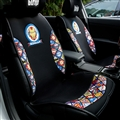 Cute Polyester Ironman Car Seat Covers Universal Pads Automobile Seat Cushions 6pcs - Black Colorful