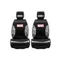 Top Polyester Marvel 2 Car Front Seat Covers Universal Automobile Seat Cushions 4pcs - Black White