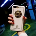 Classic Versace Leather Pattern Shell Hard Back Covers for iPhone 7 Plus - White