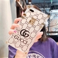 New Gucci Women Back Cases Shell For iPhone 7 Plus Silicone Soft Covers - Black