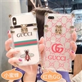 New Gucci Women Back Cases Shell For iPhone 7 Plus Silicone Soft Covers - Red