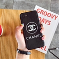 Unique Shell Chanel Genuine Leather Back Covers Holster Cases For iPhone 8 - Black
