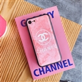 Unique Shell Chanel Genuine Leather Back Covers Holster Cases For iPhone 8 - Pink