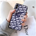 Classic Dior Leather Pattern Cases Hard Back Covers for iPhone 8 Plus - Blue