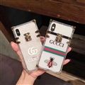 New Gucci Women Back Cases Shell For iPhone 8 Plus Silicone Soft Covers - Honeybee