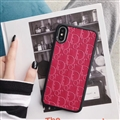 Personalized Dior Leather Pattern Cases Soft Back Covers for iPhone 8 Plus - Red