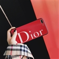 Round Dior Marble Aurora Laser Skin Glass Covers Protective Back Cases For iPhone 8 Plus - Red