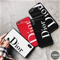 Square Dior Marble Aurora Laser Skin Glass Covers Protective Back Cases For iPhone 8 Plus - Black