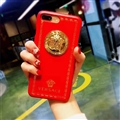 Classic Versace Leather Pattern Shell Hard Back Covers for iPhone X - Red