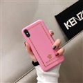 Personalized Versace Leather Pattern Shell Hard Back Covers for iPhone X - Pink