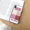 Retro Skin Casing Dior Leather Back Covers Holster Cases For iPhone X - White