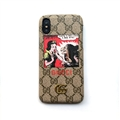 Snow White and the Seven Dwarfs Casing Gucci Leather Back Covers Holster Cases For iPhone X - Gray