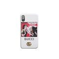 Snow White and the Seven Dwarfs Casing Gucci Leather Back Covers Holster Cases For iPhone X - White