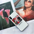 Snow White and the Seven Dwarfs Shell Gucci Leather Back Covers Holster Cases For iPhone X - White