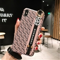 Wristband Christian Burberry Matte Hard Back Cases For iPhone X - Black