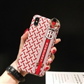 Wristband Christian Burberry Matte Hard Back Cases For iPhone X - Red