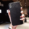 Unique Lattice Hermes Genuine Leather Back Covers Holster Cases For iPhone XS Max - Black