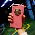 Classic Versace Leather Pattern Shell Hard Back Covers for iPhone XR - Pink