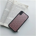 Personalized Dior Leather Pattern Cases Soft Back Covers for iPhone XR - Rose