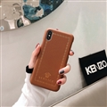 Personalized Versace Leather Pattern Shell Hard Back Covers for iPhone XR - Brown