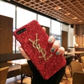 Classic Bling YSL Diamond Sequins Cover Good Rhinestone Cases for iPhone XS - Red