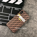 Roma Fendi Leather Pattern Cases Hard Back Covers for iPhone XS - Brown