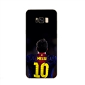 Back Messi Mirror Surface Lanyards Cases Shell For Samsung Galaxy S10 Silicone Soft Covers - Black
